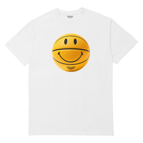 SMILEY BASKETBALL T-SHIRT (WHITE)