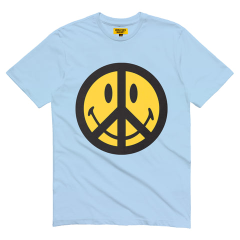 SMILEY PEACE T-SHIRT (LIGHT BLUE)
