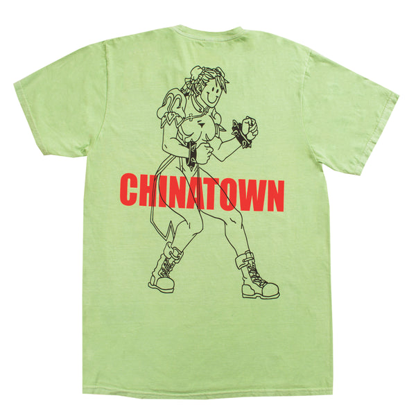 PLEASURES x CHINATOWN FIGHTERS T-SHIRT (GREEN)