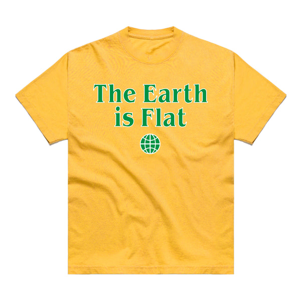 FLAT EARTH T-SHIRT (YELLOW)