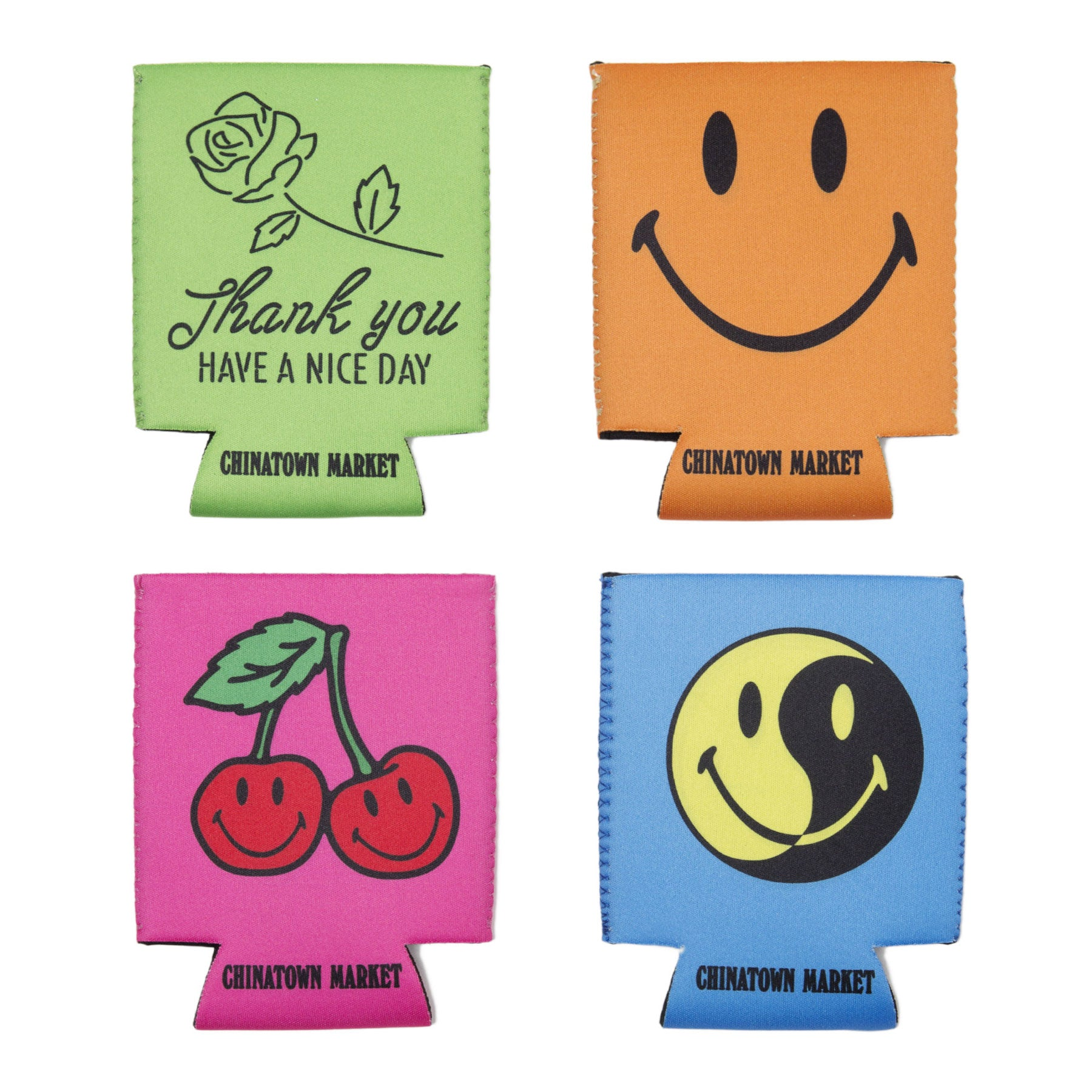 SMILEY KOOZIE SET (4 COLORS)
