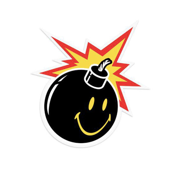 THE HUNDREDS x CTM SMILEY ADAM STICKER (BLACK)