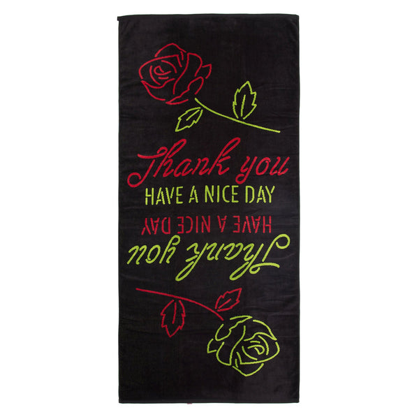 THANK YOU BEACH TOWEL (BLACK)