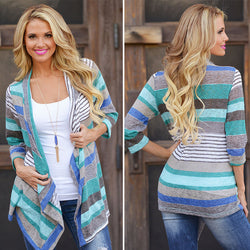 www.Petalsfashionz.com Quick shipping low prices women's Cardigans Boho Tribal Waterfall Cardigan Autumn Wrap Coat Blue