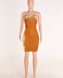 www.Petalsfashionz.com Quick shipping low prices women's Club Dresses Sleeveless Sexy Night Club Dress Elegant Ladies Bodycon Pencil Bandage Velour, Dress Yellow
