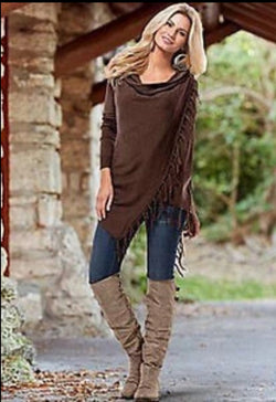 www.Petalsfashionz.com Quick shipping low prices women's cardigans Brown