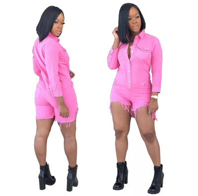 www.Petalsfashionz.com Quick shipping low prices women's rompers & jumpsuits short jumpsuit denim overalls long sleeve sexy skinny bodysuit women playsuit