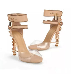 www.Petalsfashionz.com Quick shipping low prices women's Heel & Boots Shoes Apparel Sexy Bohemian Rhinestone Lock Doniamd Stilettos