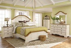 www.Petalsfashionz.com Quick shipping low prices Unique Custom Bedroom Furniture New DELIA - 5pcs COTTAGE COMPLETE BEDROOM SET w/ KING PANEL BED