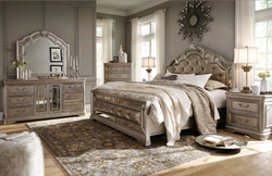 www.Petalsfashionz.com Quick shipping low prices Unique Custom Bedroom Furniture MONTEGO TRADITIONAL COLLECTION 5pcs KING PANEL BEDROOM SET