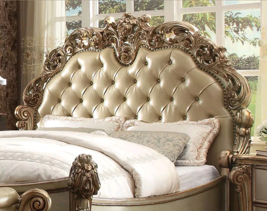 www.Petalsfashionz.com Quick shipping low prices Unique Custom Bedroom Furniture New LAUREL - EUROPEAN TRADITIONAL 5pcs KING UPHOLSTERY BEDROOM SET