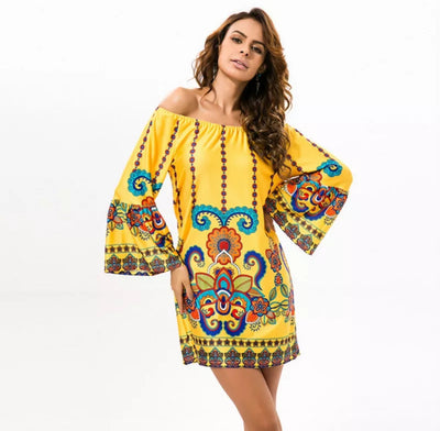 www.Petalsfashionz.com Quick shipping low prices women's Maxi Dresses & Sundresses Off Shoulder Women Summer Beach Indian Dress Boho Sexy Bohemian Vintage Dresses Sundress Vestidos Robe Plus Size