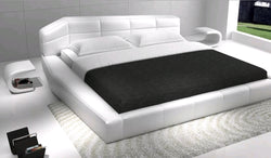 www.Petalsfashionz.com Quick shipping low prices Unique Custom Bedroom Furniture Dream Contemporary Eco-Leather Bedroom Set in White