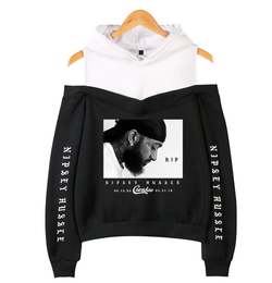 www.Petalsfashionz.com Quick shipping low prices women's Cardigans Nipsey Hussle Harajuku Kawaii Style Hooded Off The Shoulder