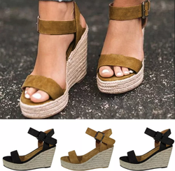Petalsfashionz Summer Strap Gladiator Wedges Casual Woman Peep Toe Espadrille Shoes