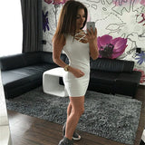 www.Petalsfashionz.com Quick shipping low prices women's club dresses White