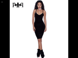www.Petalsfashionz.com Quick shipping low prices women's Club Dresses Sleeveless Sexy Night Club Dress Elegant Ladies Bodycon Pencil Bandage Velour, Dress Black