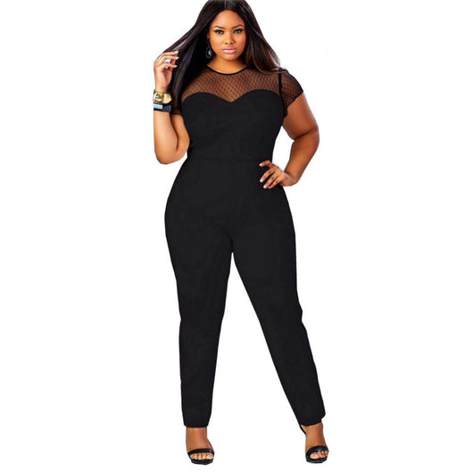 www.Petalsfashionz.com Quick shipping low prices women's plus size  Rompers & Jumpsuits apparel Black