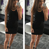www.Petalsfashionz.com Quick shipping low prices women's club dresses Black