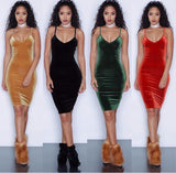 www.Petalsfashionz.com Quick shipping low prices women's Club Dresses Sleeveless Sexy Night Club Dress Elegant Ladies Bodycon Pencil Bandage Velour, Dress