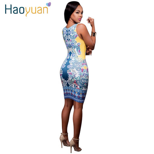 UWomen Summer Bodycon Sexy Dress Slim Body Con Knee-Length Party Dresses Woman Clothing