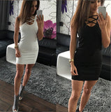 New Casual Autumn Women Summer Sex V-neck Dresses Tank Vintage Business Party Work Wear Bodycon Knitted Dress For women