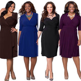 www.Petalsfashionz.com Quick shipping low prices women's plus size apparel Spring Dress Plus Size Women Clothing Large Size Dress Casual