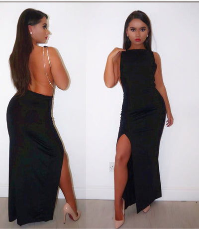www.Petalsfashionz.com Quick shipping low prices women's evening dresses  sexy dress long strap split women sexy evening party maxi Dress