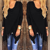 www.Petalsfashionz.com Quick shipping low prices women's cardigans Black