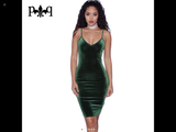 www.Petalsfashionz.com Quick shipping low prices women's Club Dresses Sleeveless Sexy Night Club Dress Elegant Ladies Bodycon Pencil Bandage Velour, Dress Green
