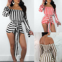 www.Petalsfashionz.com Quick shipping low prices women's rompers & jumpsuits New Women Ladies Summer Romper Striped Playsuit Bodycon Party Clubwear S M L XL XXL
