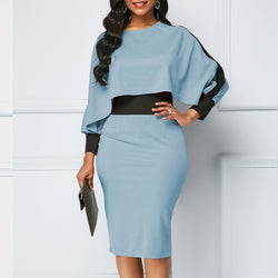 www.Petalsfashionz.com Quick shipping low prices women's plus size apparel Plus Size Slim Office Bodycon Dresses Elegant Vintage Sexy Split Patchwork Party Dress 5XL