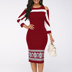 www.Petalsfashionz.com Quick shipping low prices women's plus size apparel Casual Plus Size Slim Office Pencil Bodycon Dresses Elegant Vintage Sexy Off Shoulder Party Dress