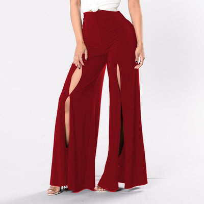 www.Petalsfashionz.com Quick shipping low prices women's Sexy Jean's & Classic Pants Sexy Hole Trousers Flare Pants With Wide Leg Bell Bottoms Pants And High Waist Ladies Plus Size Long Pants