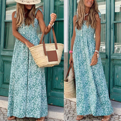 www.Petalsfashionz.com Quick shipping low prices women's Maxi Dresses & Sundresses Boho Women Long Sleeveless Backless Floral Chiffon Maxi And Summer  Beach  Dress  womens maxi dresses with sleeves, maxi dresses target, maxi dresses cheap, maxi dresses for weddings, maxi dresses old navy, summer maxi dresses, casual summer maxi dresses, maxi dresses amazon,