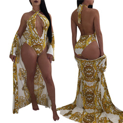www.Petalsfashionz.com Quick shipping low prices women's swimsuit & poolside attire One Pieces Print Swimwear Female Bohemia Monokini With Cover-Ups Bathing Suit Beach Bather Beachwear