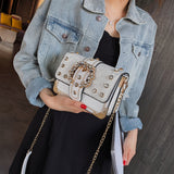 www.Petalsfashionz.com Quick shipping low prices women's handbags Mini Chain Bag With Diamond Sequins Bag Studded Small Square