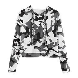 www.Petalsfashionz.com Quick shipping low prices women's Anime & Kpop Otaku And Fandom Merchandise  Casual Crop Camouflage Print Hoodie Sweatshirts Long Sleeve