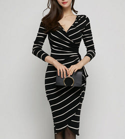 www.Petalsfashionz.com Quick shipping low prices women's business attire Black/White
