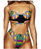 www.Petalsfashionz.com Quick shipping low prices women's swimsuit & poolside attire Vintage Print African Bikini High Waist Swimwear Push Up Pad Swimsuit