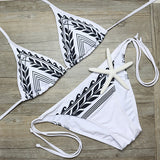 www.Petalsfashionz.com Quick shipping low prices women's swimsuit & poolside attire  Bikini Push Up Print Style Brazilian Bikini Sexy Bathing Suit White
