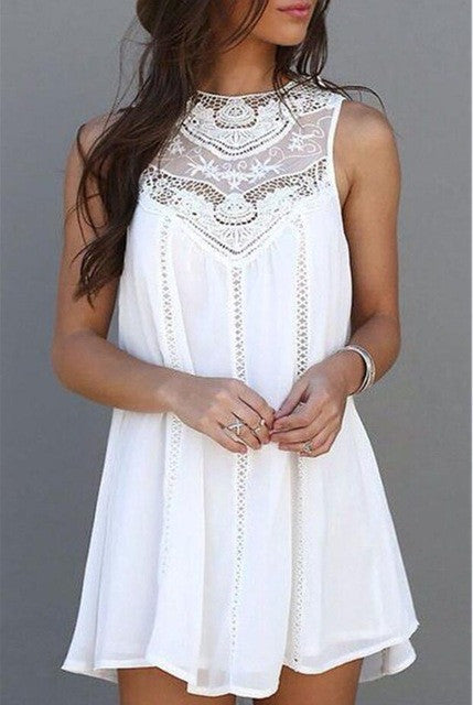 www.Petalsfashionz.com Quick shipping low prices women's Maxi Dresses & Sundresses Sleeveless White Lace Party Dresses Casual Sexy Beach Mini Sun Dress Plus Size Vestidos Mujer
