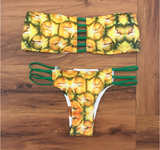 www.Petalsfashionz.com Quick shipping low prices women's swimsuit & poolside attire Yellow Pineapple Bikini Sets Women Fruits Swimwear Summer Sexy Female Halter Bikini Swimsuit Beach Bathing Suit Biquini
