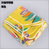 www.Petalsfashionz.com Quick shipping low prices women's swimsuit & poolside attire Printed Sun Flower Chiffon Sarong Pareo Beach Dress Bikini Scarves Wraps Yellow