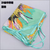 www.Petalsfashionz.com Quick shipping low prices women's swimsuit & poolside attire Printed Sun Flower Chiffon Sarong Pareo Beach Dress Bikini Scarves Wraps Green