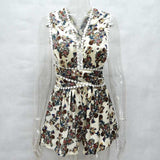 www.Petalsfashionz.com Quick shipping low prices women's rompers & jumpsuits V Neck Women's Floral Playsuit Bohemian Backless Lace Jumpsuit Summer Romper Overalls Shorts Beach Wear