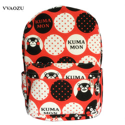 www.Petalsfashionz.com Quick shipping low prices women's Anime & Kpop Otaku And Fandom Merchandise Anime Japanese Anime Kumamon Cosplay Canvas Shoulder School Backpack Bag Cute Harajuku Bear Print Mochila Rucksack
