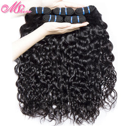 www.Petalsfashionz.com Quick shipping low prices women's Brazilian Remy & Non Remy Hair Weave Water Wave Human Hair Bundle 1PCS Brazilian Non Remy Hair Weave Extention Natural Black Can Be Dyed Bleached Mshere Hair Company