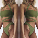 www.Petalsfashionz.com Quick shipping low prices women's swimsuit & poolside attire  Bandage Swimwear Swimsuit Push Up Bikini Sexy Beach Swimsuit Bikini