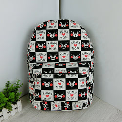www.Petalsfashionz.com Quick shipping low prices women's Anime & Kpop Otaku And Fandom Merchandise  anime KUMAMON cartoon bear black bear backpack print doodle canvas bag cartoon cute bear Shoulder Bag NEW
